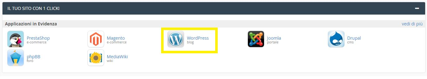 CMS Come installare WordPress