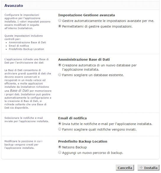 Il tuo sito con un click impostazioni installazione WordPress avanzate.jpg